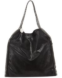 Stella McCartney Falabella Shimmery Faux-leather Big Tote Bag - Lyst