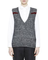 Marni Mélange Feather Jewel-back Sweater Vest - Lyst