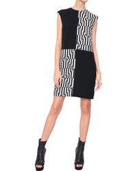 Gareth Pugh Bi-Material Dress With Panels - Lyst