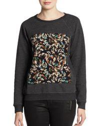 Pjk Patterson J. Kincaid Piscies Floral Panel Sweatshirt - Black