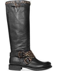 Frye Womens Jenna Studded Tall Boots - Lyst