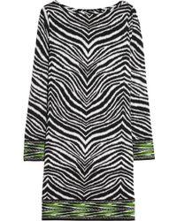 MICHAEL Michael Kors Zebra-Print Stretch-Jersey Dress - Lyst