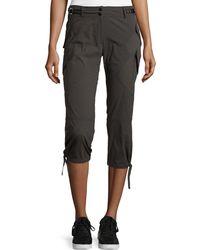 Anatomie Low-Rise Cargo Capri Pants - Gray