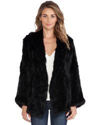 525 America Open Rabbit Fur Jacket - Lyst