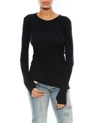 Enza Costa Cashmere Cotton Crew Sweater - Lyst