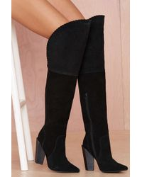 Nasty Gal Jeffrey Campbell Zylphia Leather Thigh High Boot - Lyst