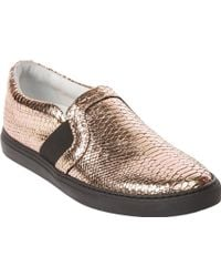 Lanvin Python-Stamped Slip-On Sneakers - Lyst