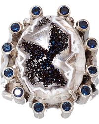Stephen Dweck - Silver Druzy and Iolite Ring - Lyst