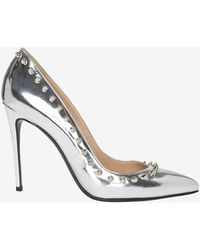 Barbara Bui Spiked Edge Mirrored Leather Pump - Lyst