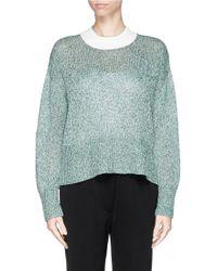 3.1 Phillip Lim Cotton Melangé Knit Sweater - Lyst
