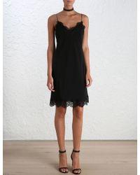 Zimmermann Silk Lace Slip - Black