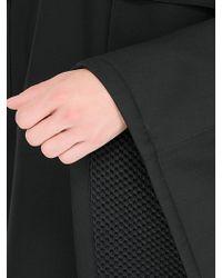 CALVIN KLEIN 205W39NYC - Bonded Wool & Mesh Poncho - Lyst