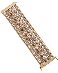 Lucky Brand Crystal Mixed Chain Bracelet - Metallic