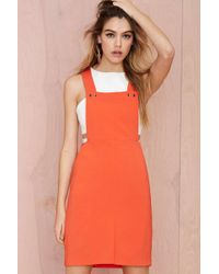 Nasty Gal Do The Bright Thing Overall Dress - Lyst