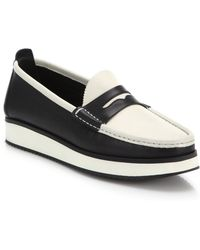 Rag & Bone Tanja Two-Tone Leather Loafers black - Lyst