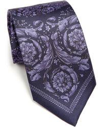 Versace   Floral Baroque Tie   Lyst