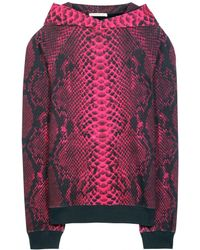Christopher Kane Printed Cotton Hooded Sweatshirt - Lyst