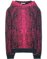 Christopher Kane Printed Cotton Hooded Sweatshirt - Lyst