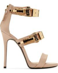 Giuseppe Zanotti Nude Pink Leather Coline Stiletto Sandals - Lyst