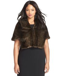 Marina - Faux Fur Short Jacket - Lyst