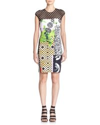 Clover Canyon Printed Neoprene Body-Con Dress multicolor - Lyst