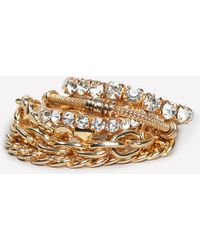 Bebe - Chain & Crystal Bracelet - Lyst