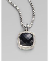 David Yurman - Black Onyx Diamond Sterling Silver Enhancer - Lyst