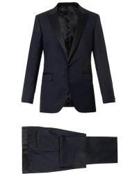 Lanvin Blue Attitudefit Tuxedo - Lyst