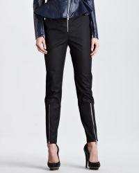 McQ by Alexander McQueen Exposed Zip Crepe Pants - Lyst