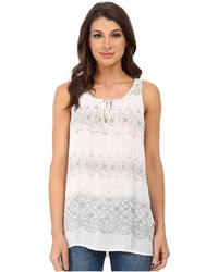 DKNY Printed Lace Tank Top - Lyst
