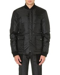DSquared2 Checked Quilted Jacket Black - Lyst