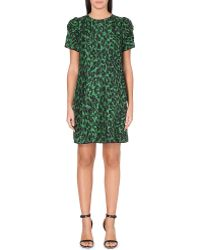 Marc Jacobs Abstract-Print Silk Dress - For Women - Lyst