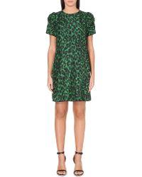 Marc Jacobs Abstract-Print Silk Dress - Lyst