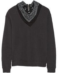 R13 Bandana Cotton French Terry Sweatshirt - Lyst