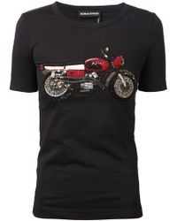 Sonia Rykiel Embellished Motorcycle T-Shirt - Lyst