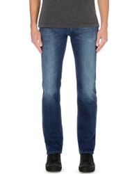 7 For All Mankind Luxe Performance Regular-fit Straight Jeans - Lyst