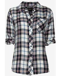 Rails Hunter Plaid Shirt Bluewhite - Lyst