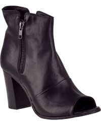 275 Central Open Toe Ankle Boot Black Leather - Lyst