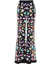 Missoni Silk Multi-Colored Leopard Wide Leg Pants - Lyst