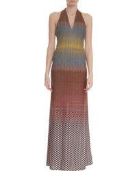 Missoni Multi Coloured Lurex Gown - Lyst