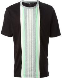 Y-3 Striped T-Shirt - Lyst