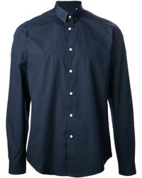 Mr Start Navy Pin Collar Shirt - Lyst