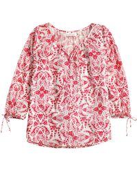 H&M Patterned Cotton Blouse - Lyst