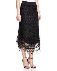 XCVI Ava Crochet Midi Skirt - Black