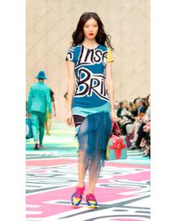 Burberry Brit Insects Of Britain Silk T-Shirt Dress - Lyst