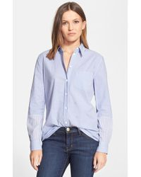 Equipment 'Reese' Contrast Stripe Shirt - Lyst