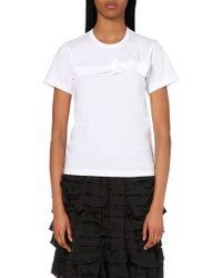 Comme des Garçons Bow-Detailed Cotton T-Shirt - Lyst