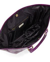 Beirn Ronnie Snakeskin Tote Bag - Purple