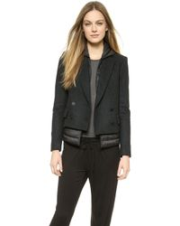 Theory Compact Wool Velvian Coat  - Lyst