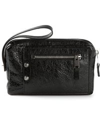 Balenciaga Black Zipped Clutch - Lyst